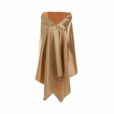 Shiny Satin Shawls and Wraps for Formal Evening Dresses by BeSpring Gold