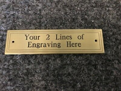 "3/4"" x 2 7/8"" Custom Engraved Brass Plate, plaque, trophy, artwork, craft, etc"