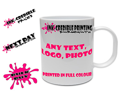Personalised Mug Custom Photo Logo Cup Gift Box Image/Text Promotional Bulk