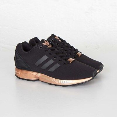 60fc5f474eb1 Women s Adidas ZX Flux Black Copper Rose Gold Bronze NMD Yeezy Ultraboost  S78977