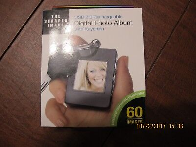 The Sharper Image Usb 2.0 Rechargeable Digital Photo Album With Keychain
