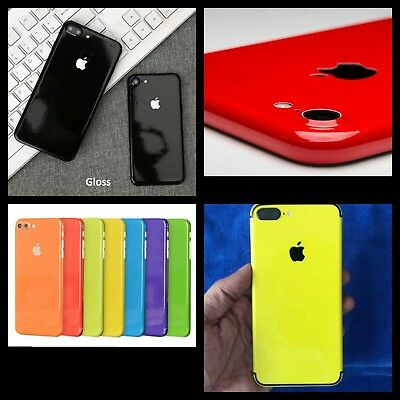 Gloss Skin Vinyl Wrap Sticker Decal Case Cover For All iPhone Various Colors