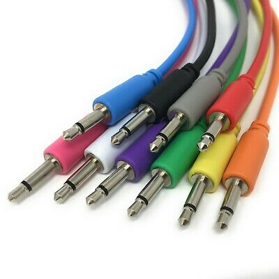 Eurorack Modular CV Patch Cables 3.5mm (15/30/60/90/150cm x 5) Shipped from UK