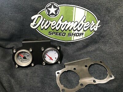 "2"" Gauge Panel Bomber style Custom duel  gauge Gasser Hot Rod Bezel rat rod"