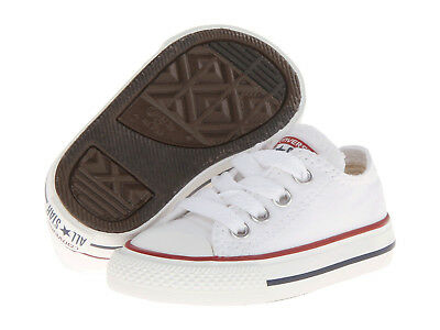 New Infant Toddler Converse Chuck Taylor All Star Ox Optical White Orig 7J256
