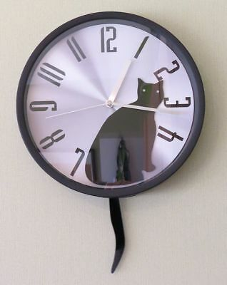 Wall clock - Black cat