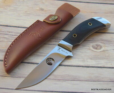 Elk Ridge 4Mm Thick Blade Pakka-Wood Handle Full Tang Fixed Blade Hunting Knife