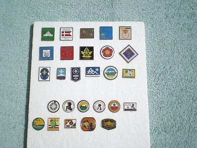 Boy Scout US and World Jamboree Pin Set (1920-1988)   --27 pins in total--