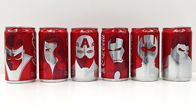 Marvel Coca Cola Full Mini Can Set - Coke Limited Edition Collector's Set -