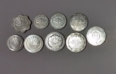Bangladesh mix of 9 different coins Poisha & Taka