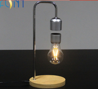 Magnetic Levitating Floating Wireless Bulb Desk Lamp for Unique Gifts Room Decor