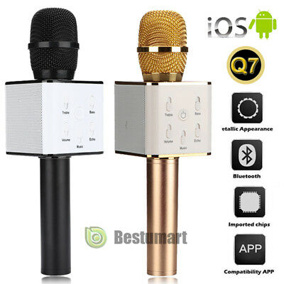 Q7 Handheld KTV Microphone Wireless Bluetooth Karaoke Singing Mic Speaker Player