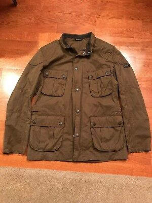 BARBOUR International Jacket size LARGE Waxed Cotton