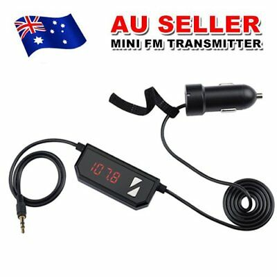 Car FM Transmitter Radio USB Charger Adapter 3.5mm Aux Audio Jack For Smartphone