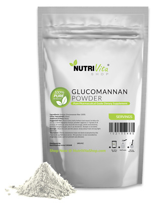 500g (1.1 lbs) 100% Pure Glucomannan Konjac Root Powder USP Weight Loss