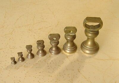 Bell Weights Solid Brass Vintage Kitchenalia Old Measure Scale Kitchen Tool