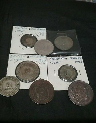 British North Borneo coins  vintage