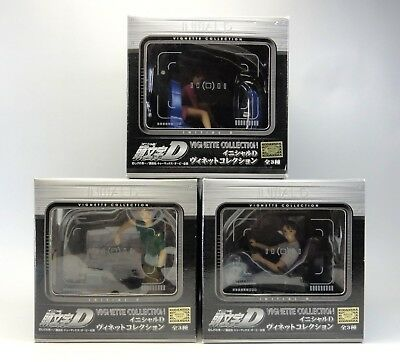 INITiAL D VIGNETTE COLLECTION Takumi AE86 & Mako SIL80 Complete set of 3 Figure