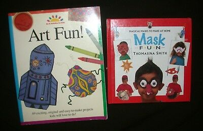 Magical MASK & ART FUN To Make at Home BOOK LOT Childrens Crafts Kids Projects
