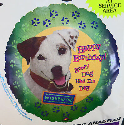 Wishbone BIRTHDAY BALLOON Sealed PBS TV Dog Jack Russell Terrier *FREE SHIP*