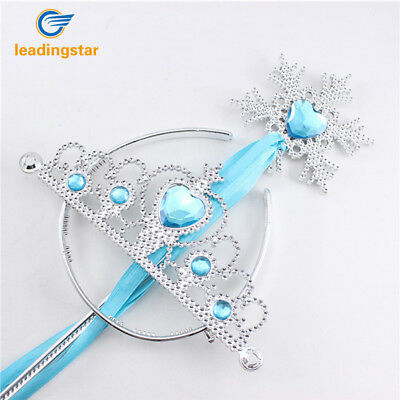 Kids Girls Princess Dress Up Crown Snowflake Wand Set for Girls Magic Cosplay US