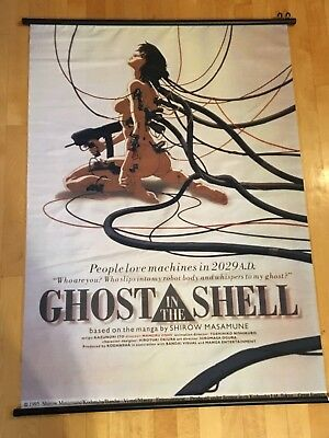 Ghost In The Shell Rare Poster Banner 1995 Anime Advertisement Ps1