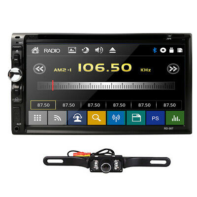"HD Sony Lens Double 2Din 7""Car Stereo Radio DVD Player iPod Bluetooth CD MP3 Mic"