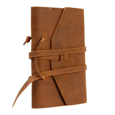 Vintage Retro Leather Notebook Note Notepad Journal Diary for Birthday Gift