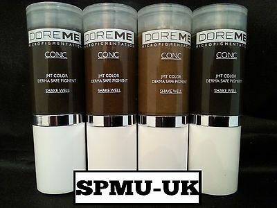 Microblading Pigments- Doreme Concentrate Pigment Kits, Permanent Makeup SPMU UK