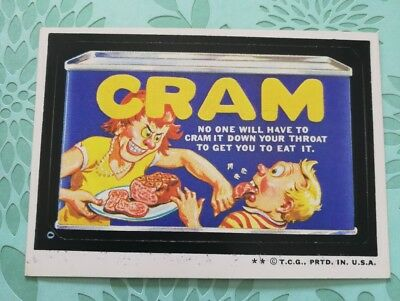 Wacky Packages Card Cram Tan Back 1974