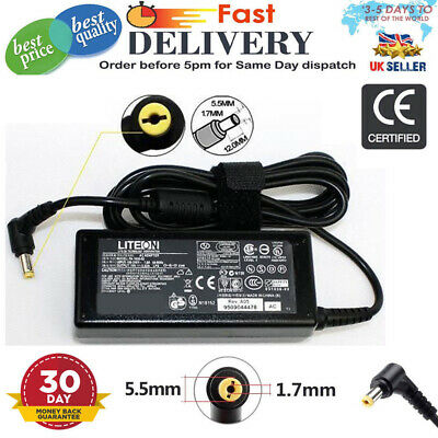 Acer Aspire Laptop Ac Charger 3.42A 5920 5332 5532-5535 5536 65W 19V Uk