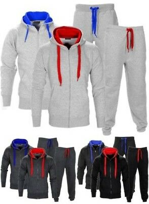 New Kids Contrast Cord Hooded Tracksuit Set Zip Top Gym Jogging Bottom