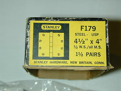 "Stanley F179 Steel-Usp 4 1/2"" X 4 Hinge 1/2 W.s./all M.s. 1 1/2 Pairs (Nos)"