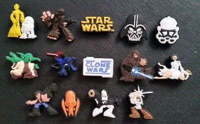 14 x Star Wars Croc Shoe Charms Clone Wars Crocs Jibbitz Band Wristbands