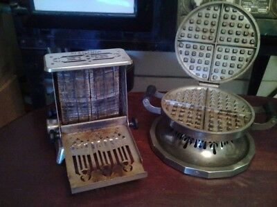 Vintage Toaster 115T17/Waffle Iron 116Y53 Edison Electric Appliance Comp.
