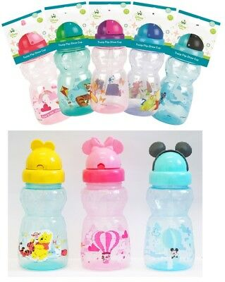 Baby Drinking Water Bottle Disney Trusip Flip-Straw Cup Toddler Training Cup 6+m