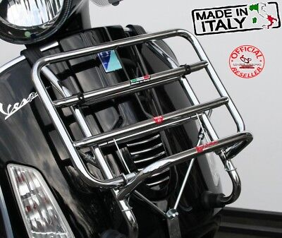 PIAGGIO VESPA GTS 300 ie CHROME FRONT CARRIER MADE IN ITALY