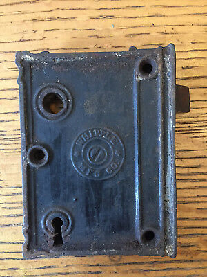 Antique Whipple MFG Co. box lock/rim lock