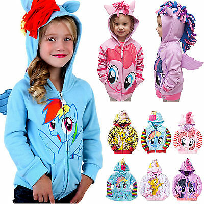 Kids Girls Baby My Little Pony Wing Hoodies Toddler Hoody Sweatshirt Jacket Coat