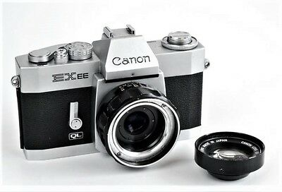 CANON EX EE QL Camera w/EX 50mm F1.8 Lens w/Strap  Japan model 1969