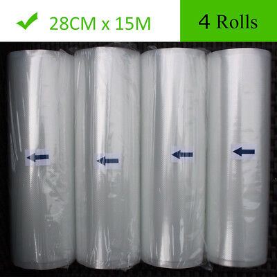 4 Roll 11X50 Food Saver Vacuum Sealer Bags Roll 4 mil FoodSaver Embossed Storage