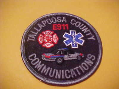 Tallapoosa  County Alabama E -911 Communications  Police Patch New  3 X 3 Inch