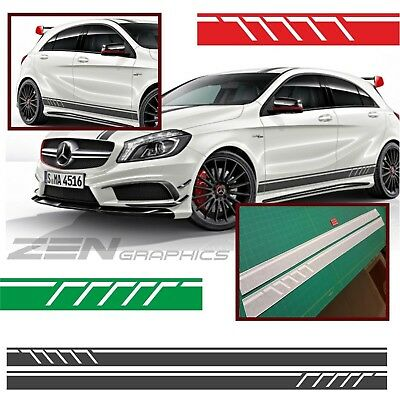 Mercedes A45 A Class W176 AMG Line A160 Side stripe Decals Stickers Any colour
