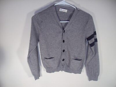 Crewcuts XL gray & navy cable v neck sweater Children's Boys