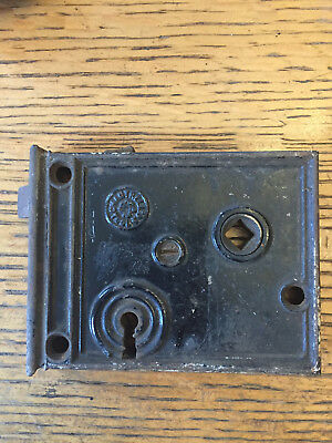 Antique Chantrell Tool Co. box lock/rim lock