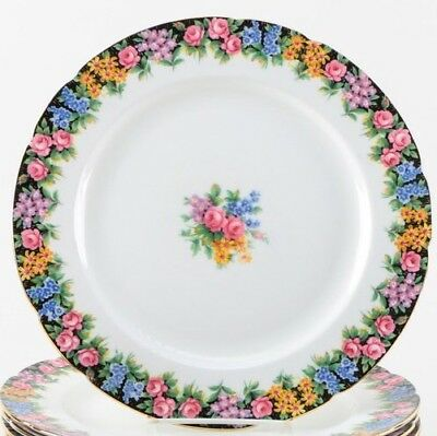 PARAGON PORCELAIN SALAD PLATES IN 'OLD ENGLISH GARDEN' - 10 Available