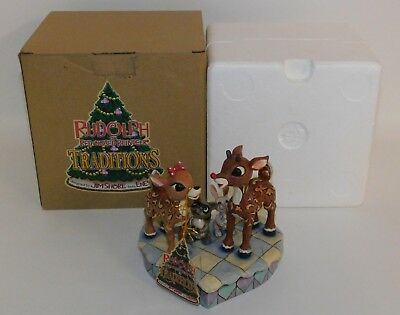 Rudolph & Clarice Figurine Jim Shore Traditions #4009800 Red-Nosed Reindeer 2008
