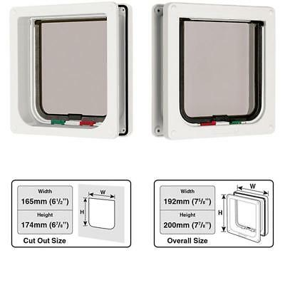 Cat Mate 4 Way Locking Cat Flap With Door Liner To 50Mm White
