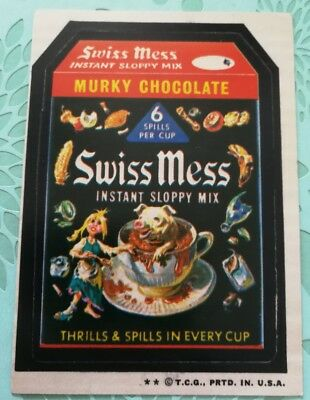 Wacky Packages Card Swiss Mess Tan Back 1974 2 Star Card