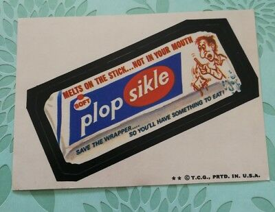 Wacky Packages Card Plop Sikle Tan Back 1974 2 Star Card